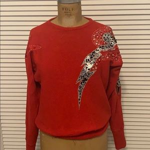 Vintage Tian Collection Red Sweater